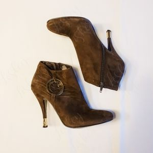 Baby Phat Ankle Booties with Charm Embellishment
